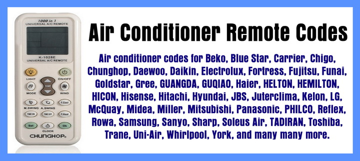 Air Conditioner Remote Codes Find Remote Codes For Your